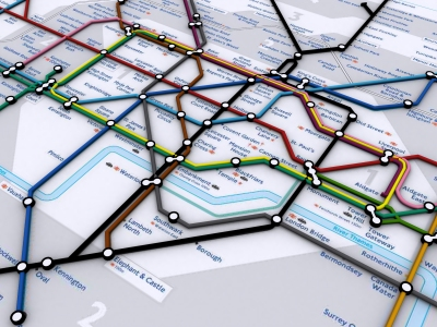 1) Download a Acrobat formatted 2D map from the London Transport site;