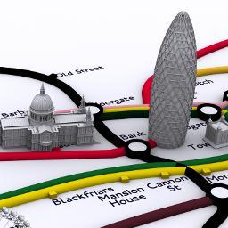 London 3D Tube Map in Google Maps – digital urban